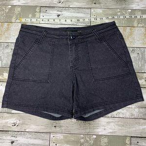 Prana patterned black shorts size 8